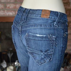 Lucky Brand Lola Boot Cut Denim Jeans Distressed